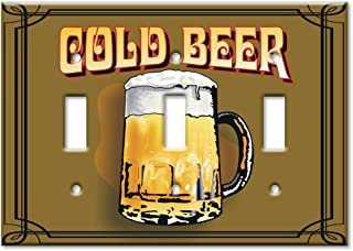 Art Plates - Cold Beer Switch Plate - Triple Toggle