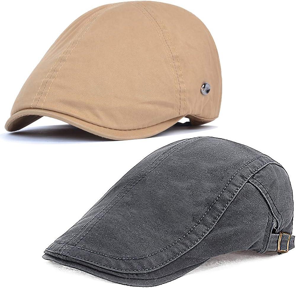 HH HOFNEN Discount mail order Men's Flat Hat Ivy Newsboy Cap Gatsby Hunti Many popular brands Adjustable