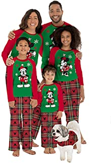 Mickey Mouse Toddlers Christmas Plaid Pajama 2 Piece Set
