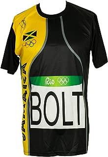 Usain Bolt Signed Custom Olympic Track Jersey PSA