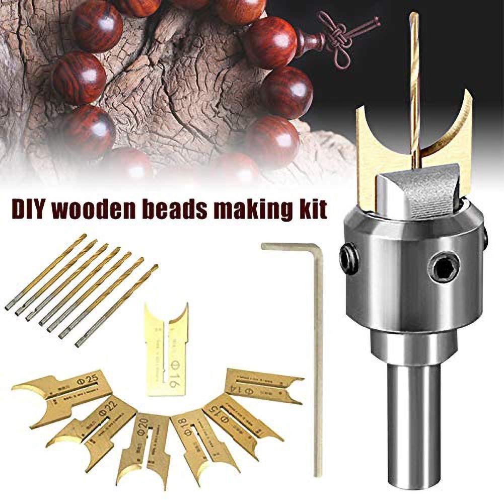 LAMF Set di 24 pezzi per perline in legno di carburo sferico con lama da 6 a 25 mm set di utensili per la lavorazione del legno