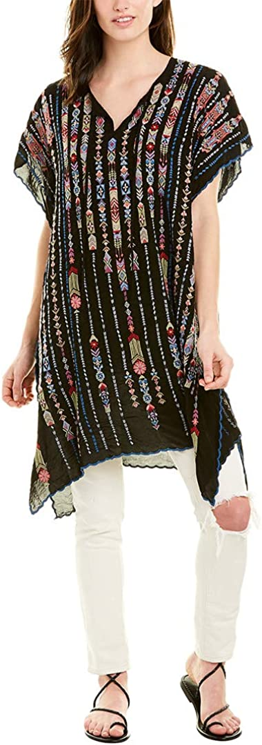 Detroit Mall Johnny Was Womens We OFFer at cheap prices Embroidered Poncho V-Neck Top
