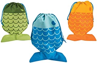 Little Fisherman Drawstring Bags - 12 pc by Party Supplies