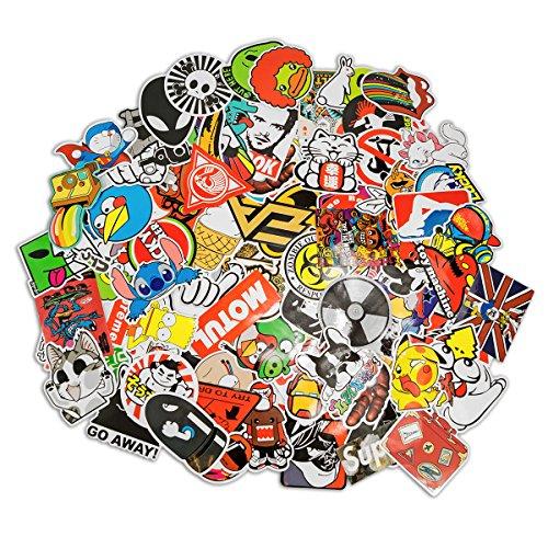 100 pegatinas de estilo retro, graffiti, viajes, marcas para monopatín, snowboard, maleta, portátil, coche, bicicleta, etc. - Auto-Dress®
