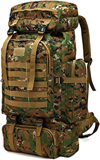 WintMing 70L Camping Hiking Backpack Molle Rucksack Waterproof Traveling Daypack