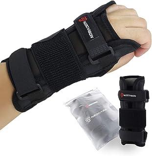 NeoCarbon Soporte de muñeca para túnel carpiano, correa ajustable a mano para alivio del dolor de tendinitis y lesiones deportivas