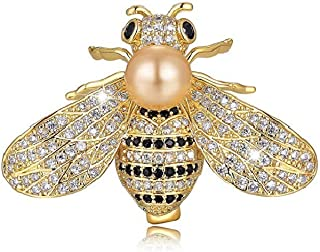Honey Bee Brooch Rhinestone Insect Themed Pin Brooches for Women