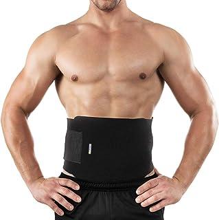 حزام تمرين لتنحيف الخصر ورفع الاثقال وشد عضلات الجسم وحرق الدهون وتوفير دعم لاسفل الظهر بمقاس قابل للتعديل للجنسين