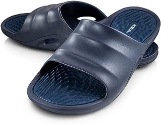 eb366bd6d Roxoni Mens Slide Sandals Open Toe Flip Flop Beach Shower Shoe   Non-Slip  Slipper