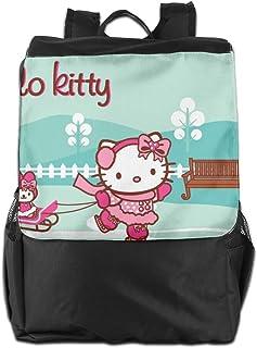 Mochila de viaje Hello Kitty patinaje ligero poliéster mochila bolsa de viaje para hombres y mujeres