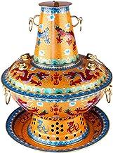 Pot Chaud Au Charbon De Grande Capacité Assemblage Détachable Pot Chaud Motif Dragon Épaissi Pot Chaud en Cuivre Pot Chaud...