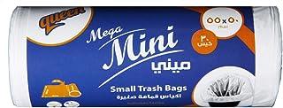 Queen Mini Trash Bags, White - 30 Bags