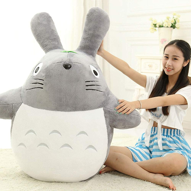 L&WB Diverse Dimensioni, Gree autoino Totoro Peluche Gigante Grei Animali ripiene Giocattolo Morbido Bambola Cuscino Cuscino Regalo di Compleanno Vacanza,A,60cm