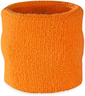 Suddora Wrist Sweatband Also Available in Neon Colors - Athletic Cotton Terry Cloth Wristband for Sports(1 Piece)