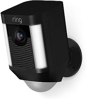 Ring Spotlight Cam Battery, HD-beveiligingscamera met led-spots, alarm, tweeweg-audio, werkt op accu | Inclusief proefabon...