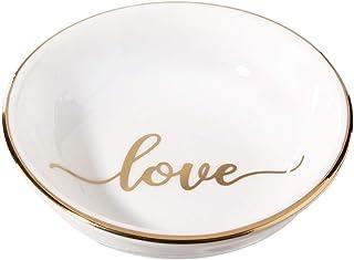 "Lillian Rose Love Ceramic Ring Dish, 3.5"", Off white"