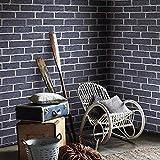 Retro chinesischen Stil Red Brick Blau Ziegel Ziegel Ziegelstein-Muster-Tapete Antike Brick Wallpaper 3D Dreidimensionales Kultur Brick Restaurant Restaurant-Wand-Papier lösbaren Tapeten ( Size : C )