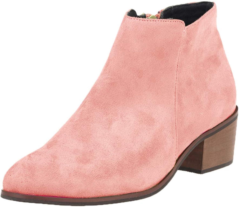 YUhe2018Cw Yu He Women's Petty Ankle Bootie Pink