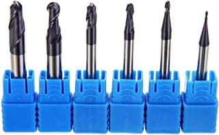 Radius 0.5 1 1.5 2 2.5 3 Ball Nose Carbide End Mill Set CNC Cutter Router Bits 2 Flute Spiral Milling Tool