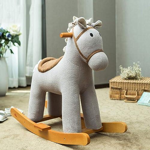 forma única Silla Mecedora YC Unicornio Caballo de Madera Madera Madera para Niños Rocking Horse Música azultooth Bebé Juguetes Edad Regalo (Color   B)  con 60% de descuento