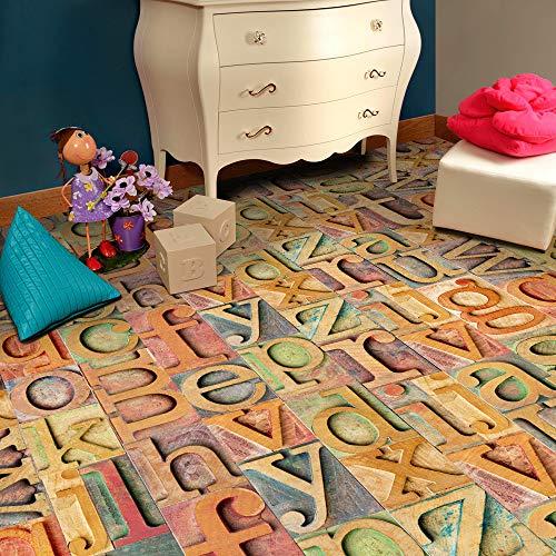Lazzgirl Klebstoff Fliese Kunstboden Wand Aufkleber Aufkleber DIY Küche Badezimmer Dekor(L)