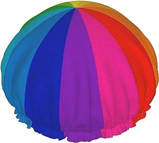 Tęczowa wodoodporna czapka prysznicowa z elastycznym obszyciem dwustronna konstrukcja do prysznica czapka do spania na cze...