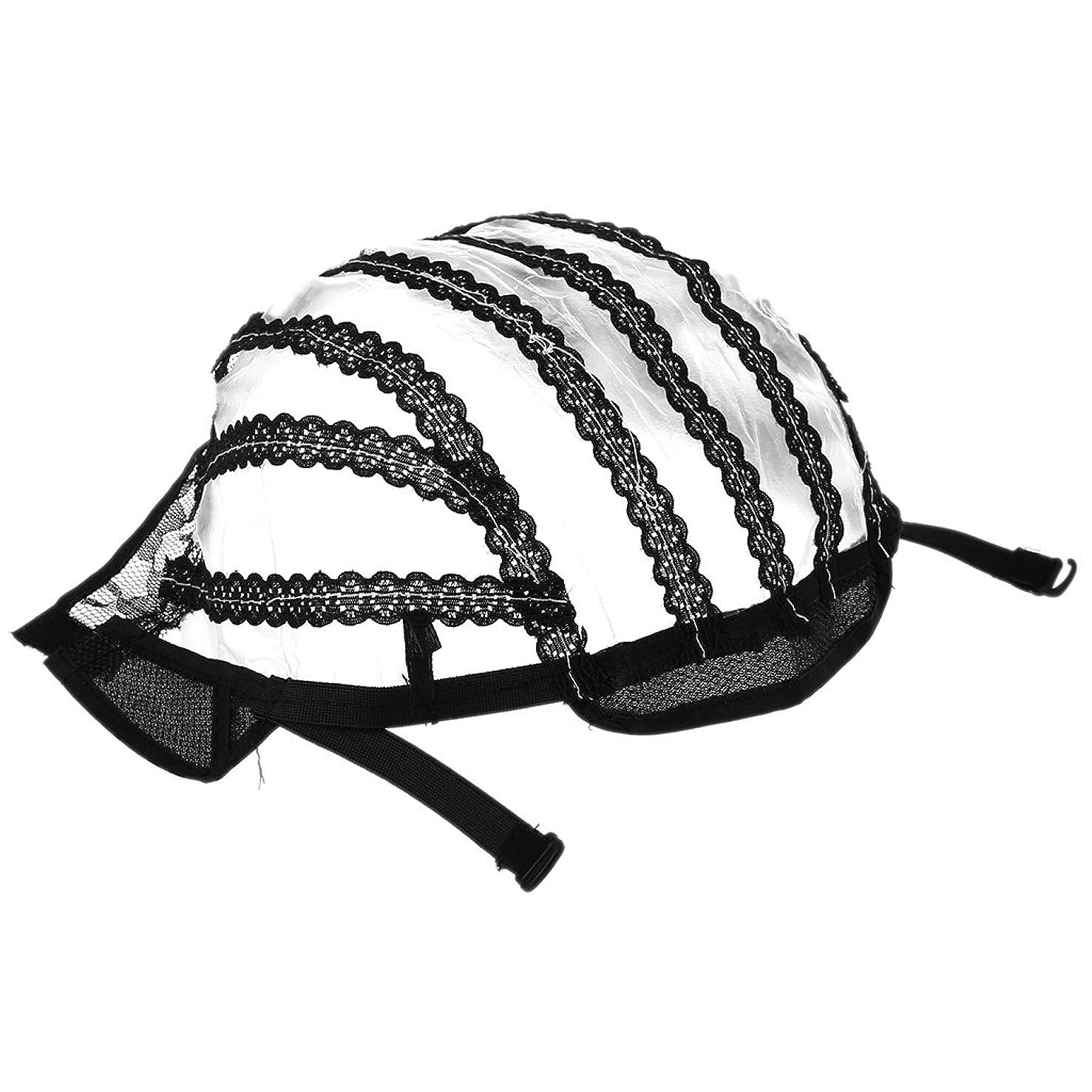 YOUSIKE Wig Cap For Men Women, U-part Shape Wig Cap, Glueless Lace Front Net Weaving Mesh Adjustable Strap Elastic