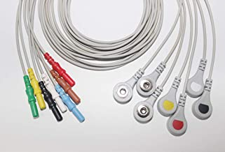 1.5m Electrodes Cables, General Purpose Contact Accessory, Soft TPU, Lead Cable Adapter Connection Wire, Data Cable, Tester Leads (7 Pcs Dynamic Holter Recording Cable)