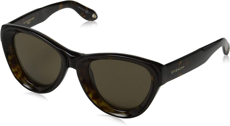 Givenchy GV7073 S 086 Dark Havana GV7073 S Cats Eyes Sunglasses Lens Category 3