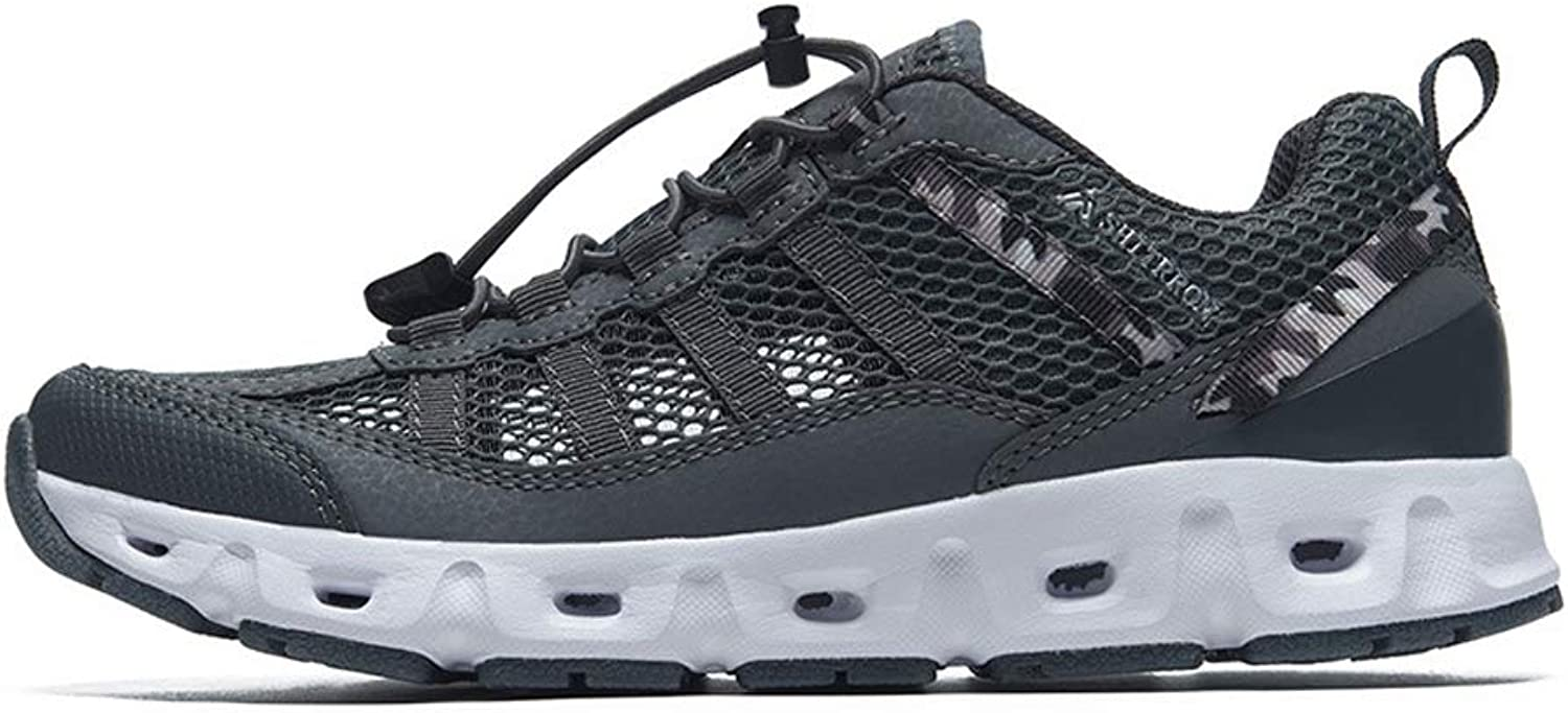 ZFLIN Sports shoes Outdoor Hiking Flying Woven Running shoes Men's Lightweight Non-Slip sneakers-grey-43