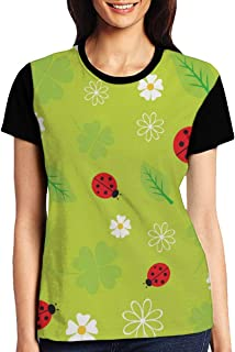 Reindeer Background Womens Casual Crewneck T-Shirt