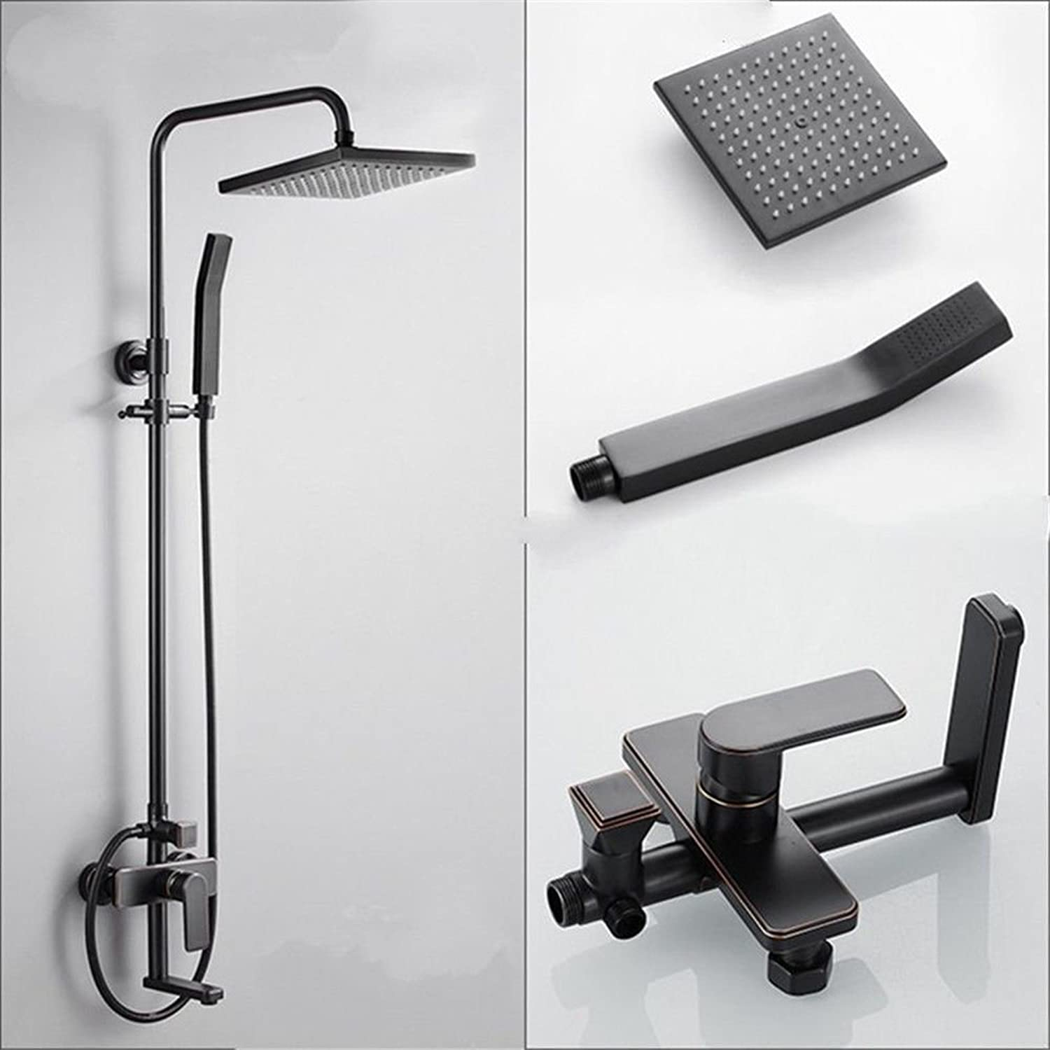 Hlluya Professional Sink Mixer Tap Kitchen Faucet The bathroom shower black shower faucets antique shower kit full copper into the wall square lift lever shower system,