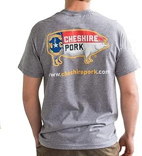 NC Pig Flag Cheshire Pork T-Shirt, Gray