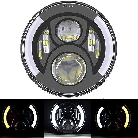 Suparee 7 Zoll Weiße Led Ringlicht Bernsteinige Blinklicht Auto
