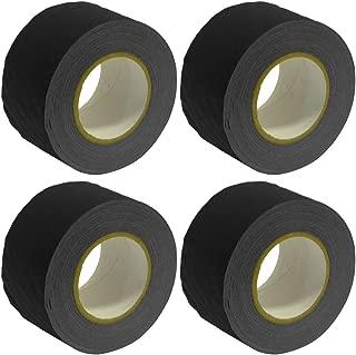 Seismic Audio - SeismicTape-Black603-4Pack - 4 Pack of 3 Inch Black Gaffer's Tape - 60 yards per Roll