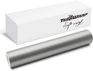 TECKWRAP Silver Metallic Permanent Adhesive Vinyl 12