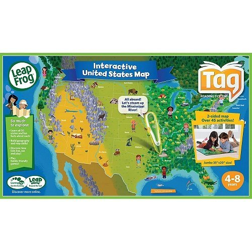 1 Qty. Leap Frog Interactive United States 2 sided USA Map - Tag Reading Systems (Map Only)