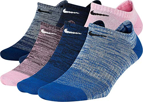 Nike Everyday Lightweight No-Show Calcetines (6 Pares) Ropa deportiva para Mujer, color Multi-Color, S