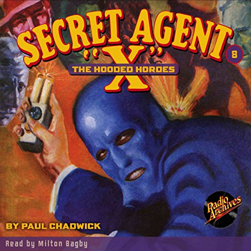 Secret Agent X #8 October 1934 audiobook cover art