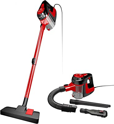 NEQUARE Vacuum Cleaner Corded 5 in 1 Stick Vacuum 600W 16KPa Suction with HEPA Filter for Hard Floor Pet Hairs, A17B