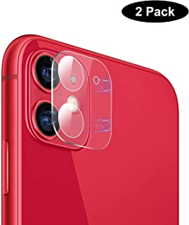 2 Pack Upgrade iPhone 11 Camera Lens Protector for iPhone 11 Clear Camera Tempered Glass Screen Protector [High Definition][Anti-Scratch] Cover Film for Apple iPhone 11
