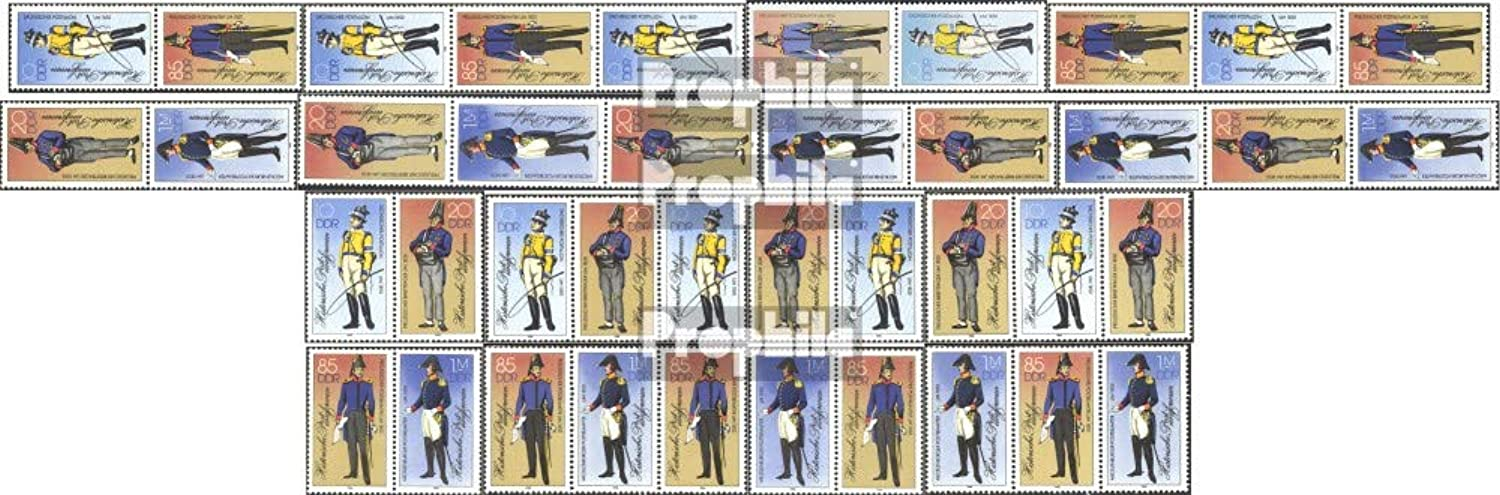 DDR WZd656WZd663, SZd306SZd313 (Complete.Issue.) 1986 Historical. Uniforms (Stamps for Collectors) Uniforms   Costumes