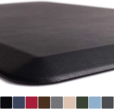 """GORILLA GRIP Original 3/4"""" Premium Anti-Fatigue Comfort Mat, Phthalate Free, Ships Flat, Ergonomically Engineered, Extra Support and Thick, Kitchen and Office Standing Desk (32x20: Black)"""