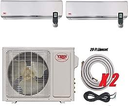 YMGI-24000 BTU 12000+12000 DUAL ZONE DUCTLESS MINI SPLIT AIR CONDITIONER Heat Pump