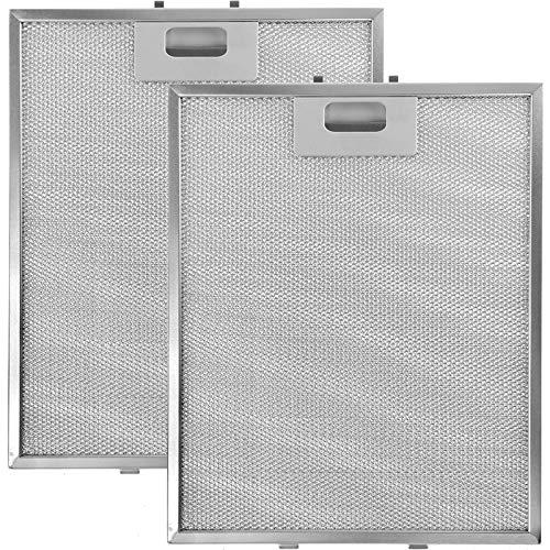 Spares2go Aluminium-Fettfilter für Whirlpool-Dunstabzugshaube, 305 x 265 mm, 2 Stück
