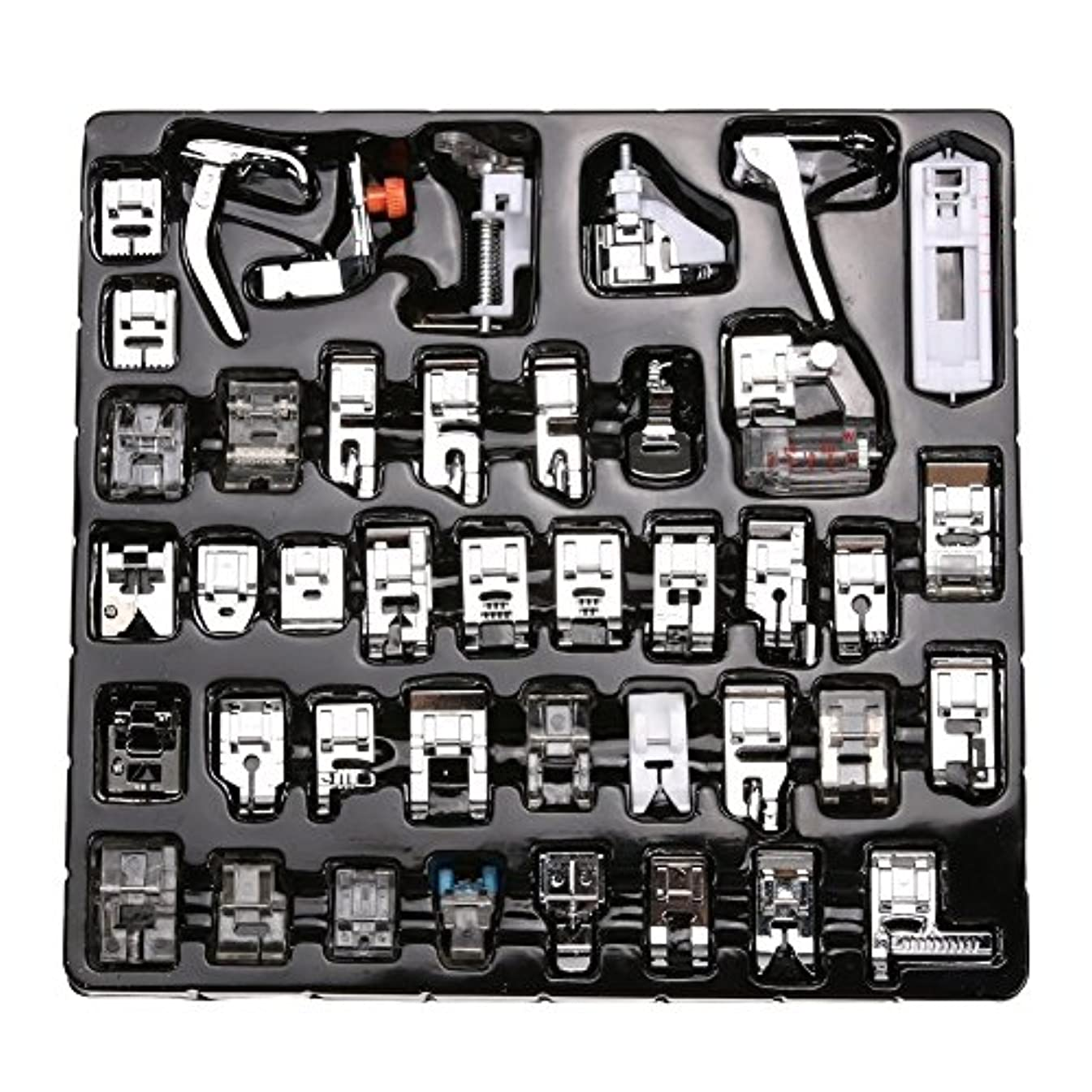 Professional Domestic Sewing Foot Presser Foot Presser Feet Set for Singer, Brother, Janome,Kenmore, Babylock,Elna,Toyota,New Home,Simplicity and Low Shank Sewing Machines (42 PCS)
