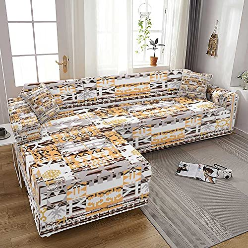 WXQY Fundas de sofá elásticas de impresión Moderna para Sala de Estar Fundas de sofá elásticas Fundas de sofá Funda de sillones A3 2 plazas