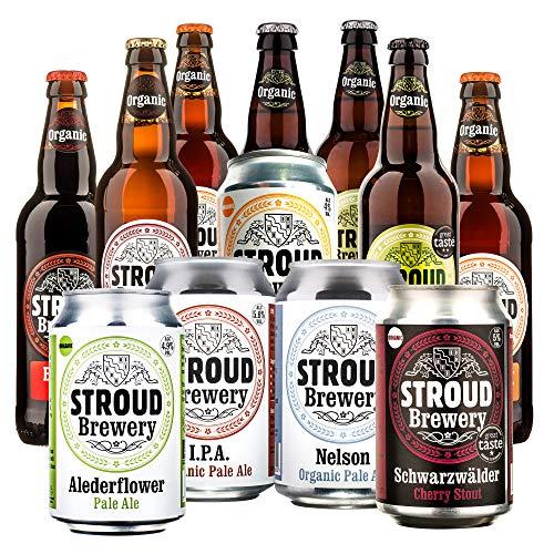 Organic Beer Tasting Mix | Stroud Brewery Craft Beer | Natural Ingredients Beer Hamper | 12 Beer Selection Case