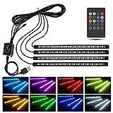 1stモール グラシアス LED テープライト 60LED リモコン式 音に反応 USB式 車内 装飾用 防水 全8色 高輝度 フットランプ 照明 GURASSIAS ST-GURASSIAS