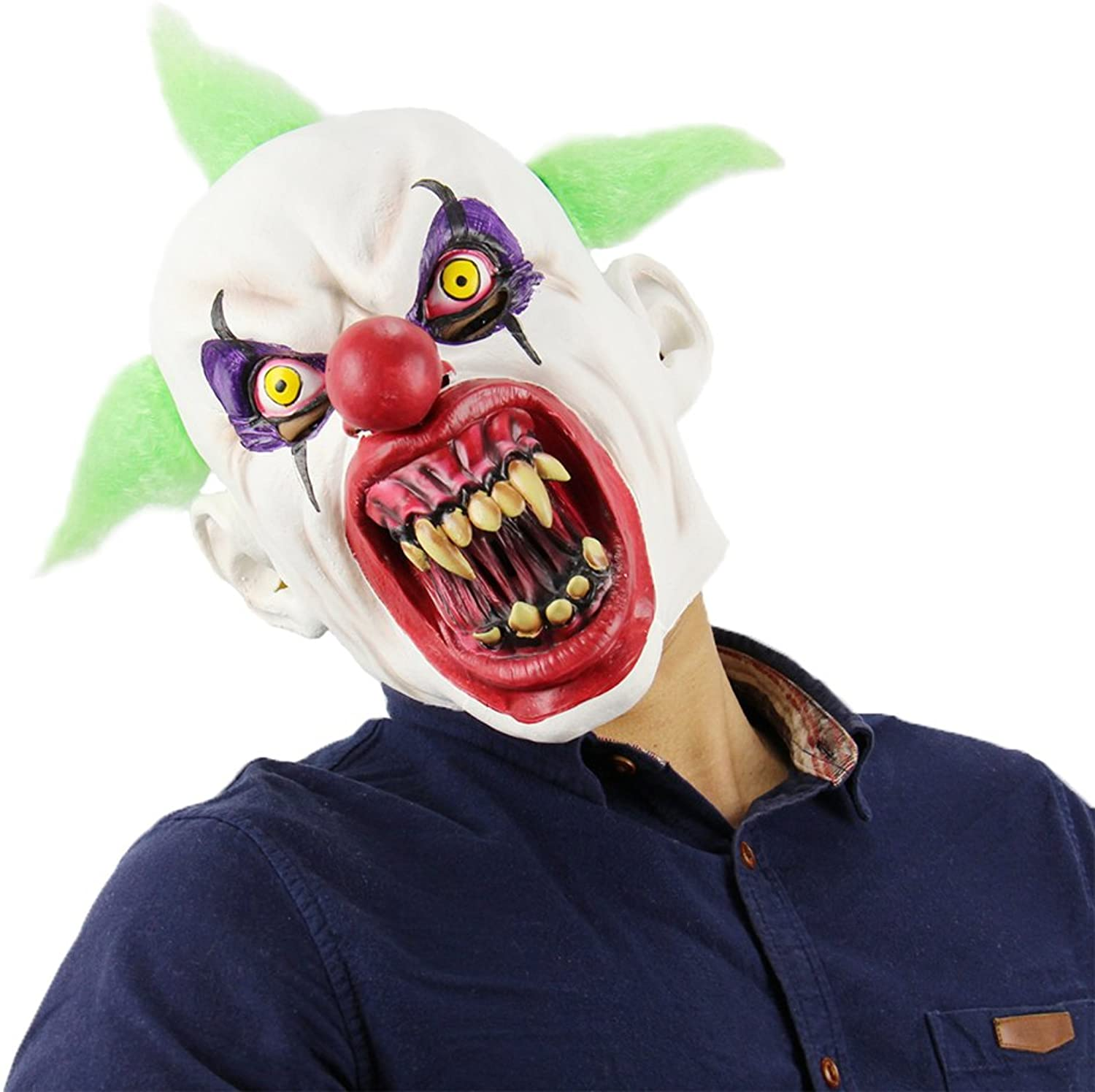 Labeol Scary Clown Halloween Mask Latex Masquerade Party